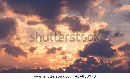 background of the rising sun. - stock photo