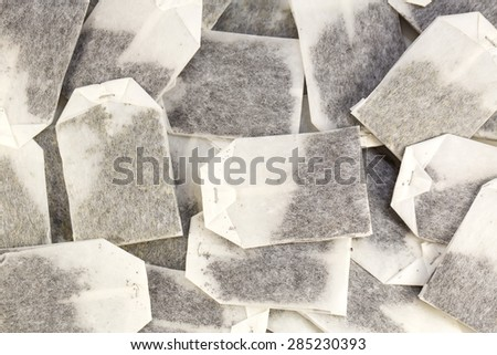 background of the tea bags - stock photo