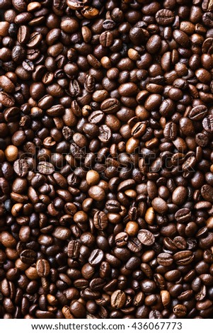 Background of toasted coffee beans - stock photo