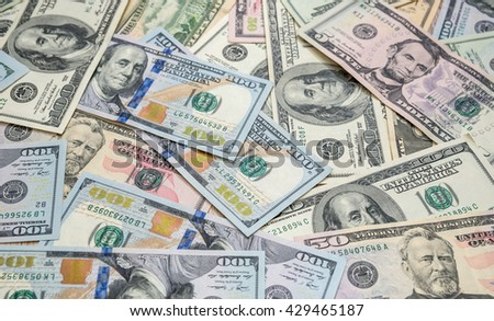 Background of us dollar bills - stock photo