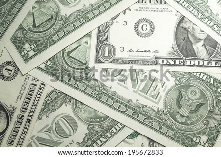 Background of US dollars - stock photo