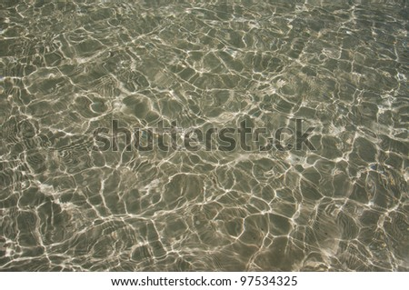 background of water dapples on shallow sand - stock photo