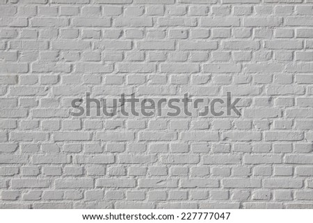 Background of white brick wall texture - stock photo