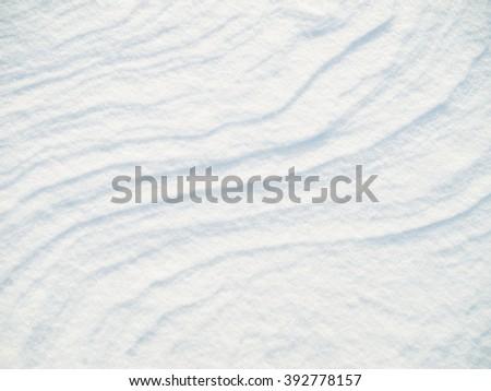 background of white fresh snow - stock photo