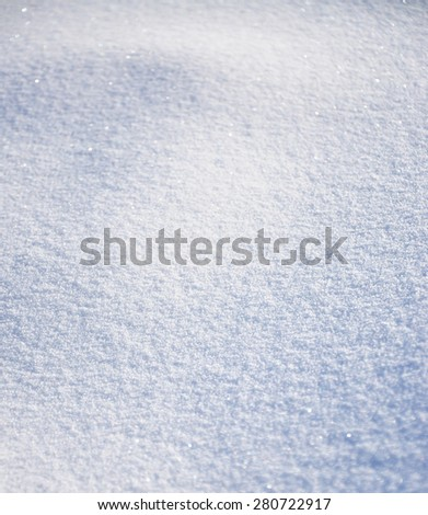 Background of white  snow, snowy surface as background - stock photo