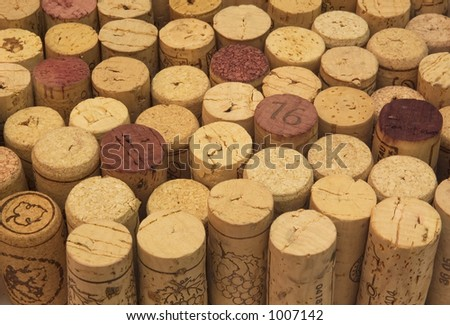 background of wine corks - stock photo