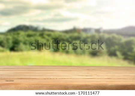 background of wooden desk  - stock photo