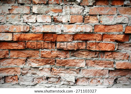background old brick wall - stock photo