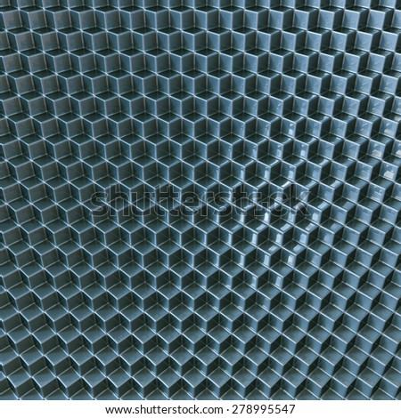 Background or texture made of mosaic or honeycomb pattern in grey color. - stock photo