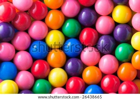 Background photo of multicolored gumballs - stock photo