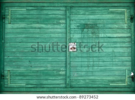 Background picture made of colored wood boards - stock photo