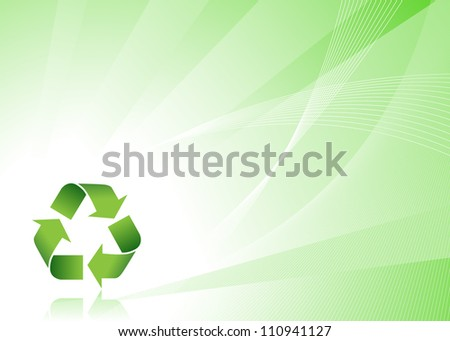 Background - Recycle Symbol - stock photo