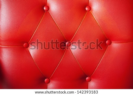 Background red sofa. - stock photo