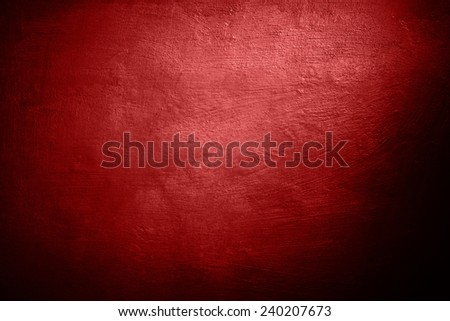Background red wall with old paint - stock photo