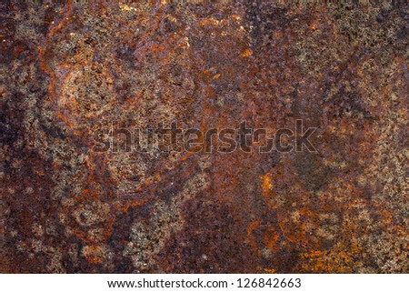 Background - Rusted Metal - stock photo