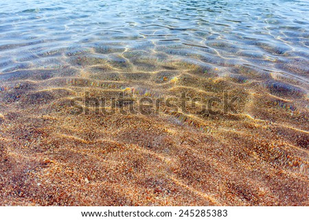 background sand on the beach underwater  - stock photo