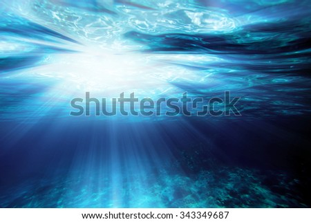 background sand on the beach underwater - stock photo