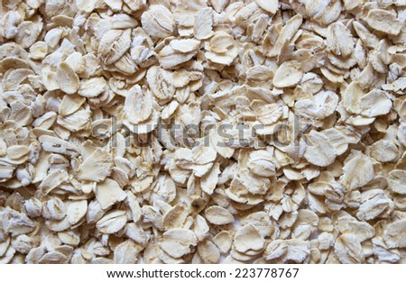 background soft light flakes of rolled oats - stock photo