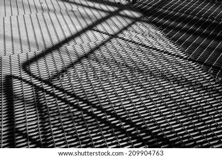 Background, steel construction in  black and white - stock photo