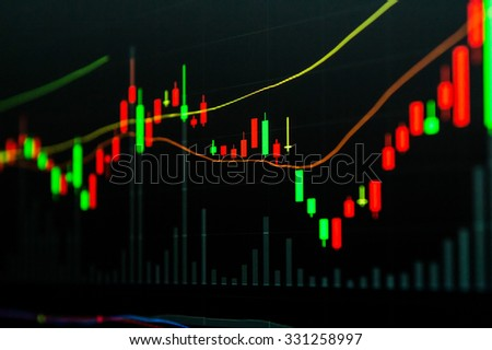 Background stock chart - stock photo