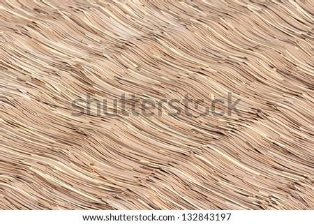 background, straw fence - stock photo