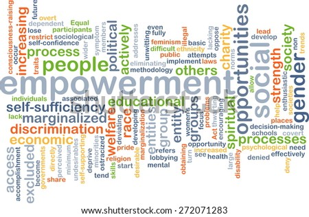 Background text pattern concept wordcloud illustration of empowerment - stock photo
