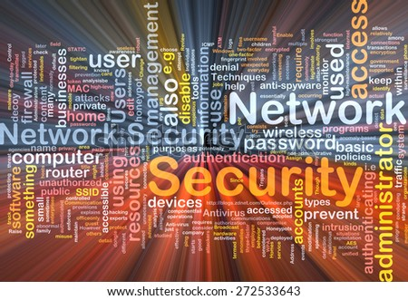 Background text pattern concept wordcloud illustration of network glowing light - stock photo