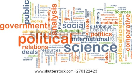 Background text pattern concept wordcloud illustration of political science - stock photo