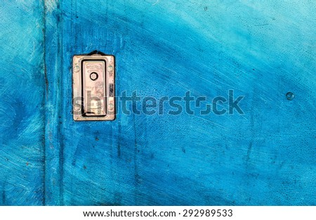 Background Texture Caribbean Blue with Lock - stock photo