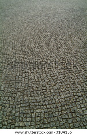 background texture cobbled road - stock photo