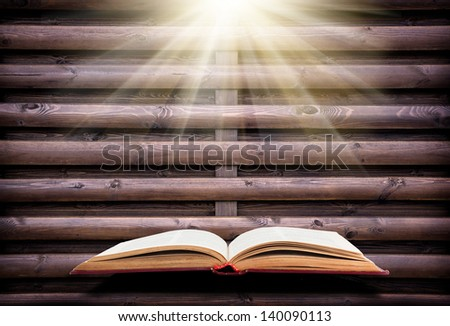 background texture design with book - stock photo