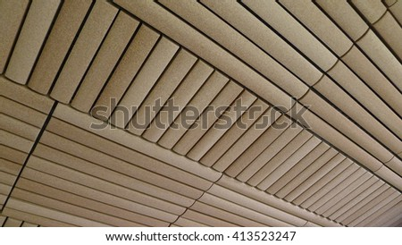 Background Texture of Bamboo Shape Tiles Pattern - stock photo