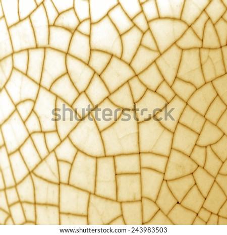 Background texture of ceramic fracture crack. - stock photo