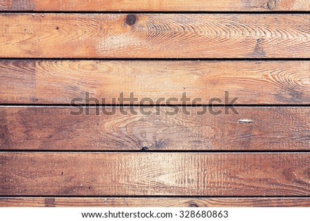 Background texture of old polished wooden wall - stock photo