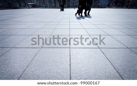 Background texture of tiled ground - stock photo