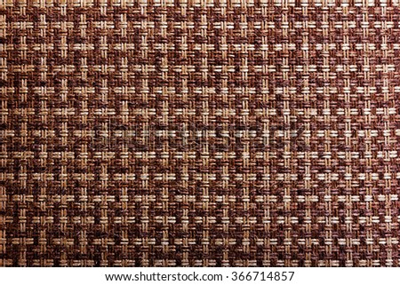 background texture of woven hemp thread two colors. Copy space. Free space for text, Close-up, top view - stock photo