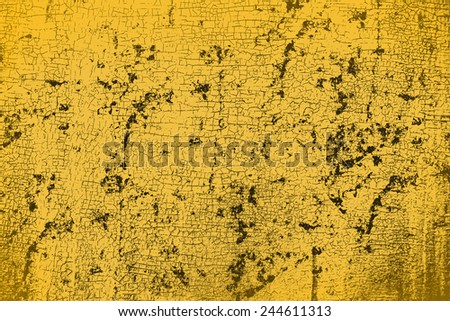 Background, texture. Old, vintage, oblepicha yellow plywood - stock photo