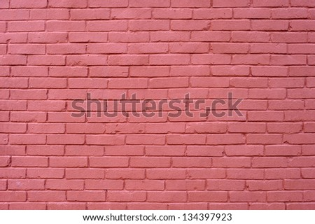 background texture wall of pink bricks - stock photo