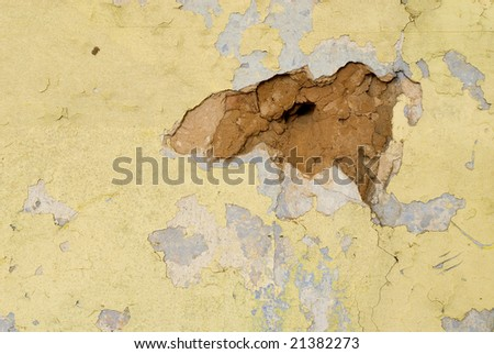 Background the old plastered wall - stock photo
