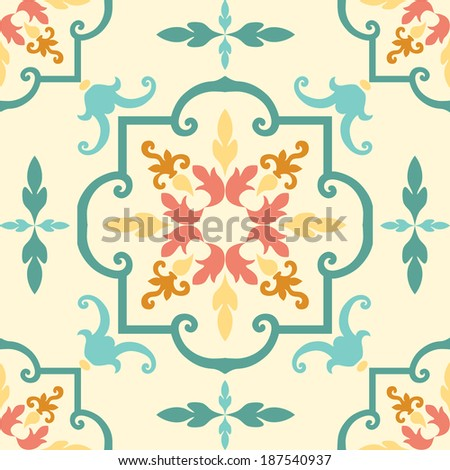 Background vintage flower. Seamless floral pattern. Abstract wallpaper. - stock photo