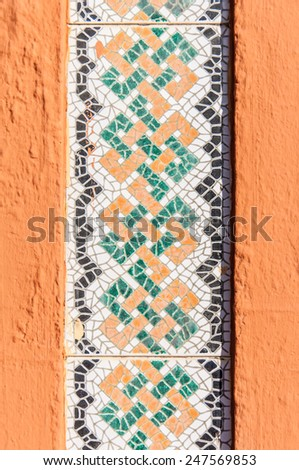 Background vintage mosaic, Seamless pattern. Abstract wallpaper. Texture. - stock photo