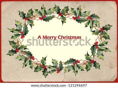 background with a Christmas poinsettia - stock photo