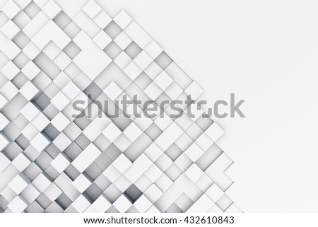 Background with abstract cubes. 3d illustration - stock photo