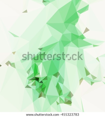 Background with Abstract Low Poly Geometrical Pattern.  - stock photo