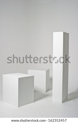 Background with 3 blocks - stock photo