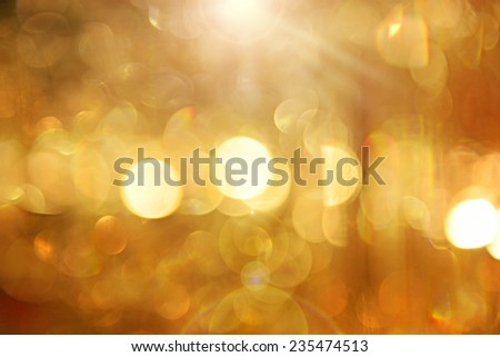 background with blur golden lights  - stock photo