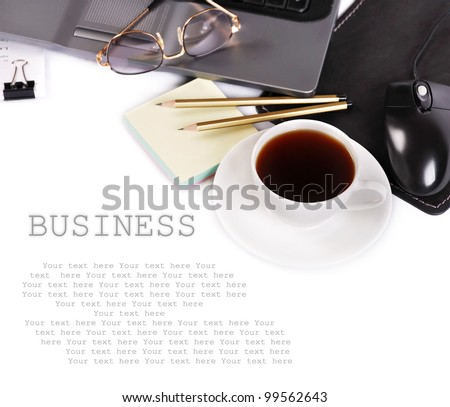 Background with business elements - stock photo