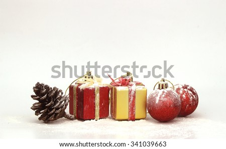 background with Christmas decoration  - stock photo