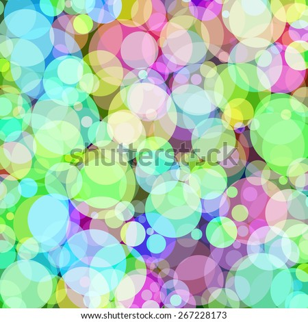 Background with colored circles. Raster 10  - stock photo