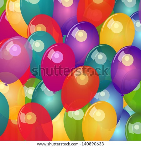 Background with colorful balloons - stock photo